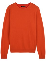 Jaeger Cashmere Crew Neck Sweater Ember