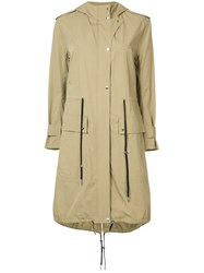 A.L.C. Lightweight Parka Coat Women Cotton Viscose 2 Brown