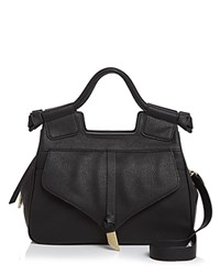Foley Corinna And Brittany Leather Satchel Black Gold