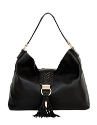 Foley Corinna Ella Leather Hobo Bag Black