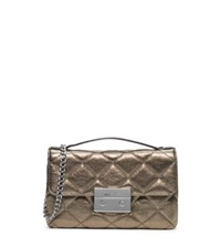 Michael Kors Sloan Small Quilted Leather Messenger Light Nickel