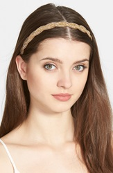 Tasha 'Twisted Crystal' Head Wrap Gold