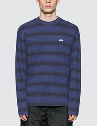 Stussy Ombre Long Sleeve T Shirt Blue