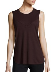 David Lerner Contrast Boyfriend Tank Red
