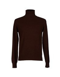Zinco Knitwear Turtlenecks Men Cocoa