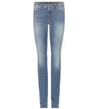 7 For All Mankind Roxanne Slim Fit Jeans Blue