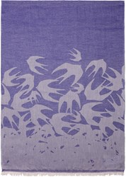 Mcq By Alexander Mcqueen Purple Swallows Scarf