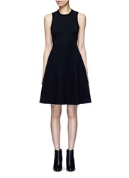 Alexander Wang Double Knit Jersey Flare Tank Dress Black