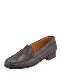 Gravati Pebbled Leather Venetian Loafer Brown Size 39.0B 9.0B