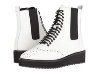 Shellys Lily White Women's Lace Up Boots