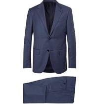 Ermenegildo Zegna Navy Milano Easy Slim Fit Wool Suit Navy