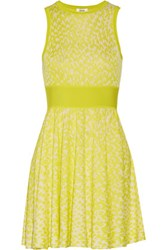 Issa Nicki Jacquard Knit Mini Dress Bright Yellow