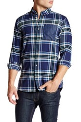 Wesc Ola Plaid Patched Relaxed Fit Flannel Shirt Blue