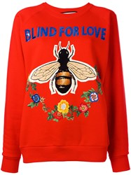 Gucci Blind For Love Sweatshirt Red