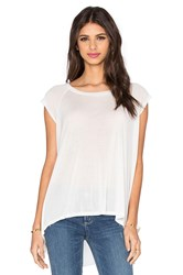 Lna High Low Muscle Top White