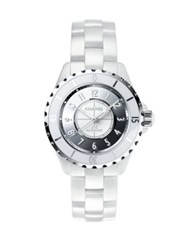 Chanel J12 Mirror Ceramic And Stainless Steel Bracelet Watch White