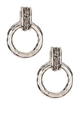 Lois Hill Sterling Silver Door Knocker Drop Earrings Metallic