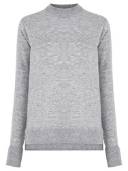 Warehouse Boxy Crew Neck Jumper Light Grey