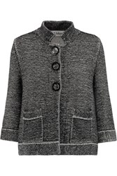Goat Geraldine Knitted Cotton Cardigan Black
