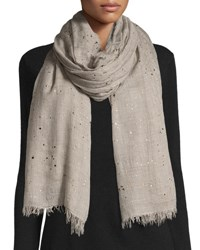 Faliero Sarti L'acessorio Rugiada Lightweight Metallic Splatter Scarf Light Gray