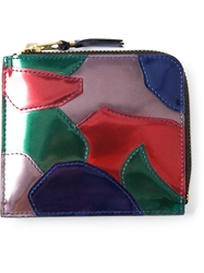 Comme Des Garcons Wallet Zip Around Coin Pouch Multicolour