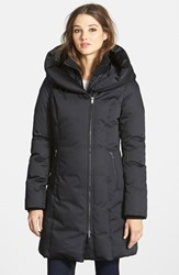 Women's Soia And Kyo Long Down Coat With Inset Bib