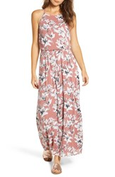 Roxy Pavement Border Maxi Dress Withered Rose Lily House
