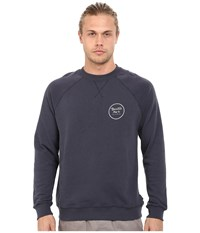 Brixton Wheeler Crew Fleece Indigo Men's Sweatshirt Blue