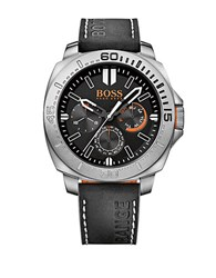 Boss Orange Sao Paulo Stainless Steel Black Leather Strap Chronograph 1513298