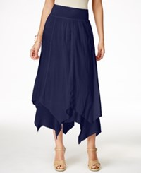 Styleandco. Style And Co. Handkerchief Hem Skirt Only At Macy's Industrial Blue