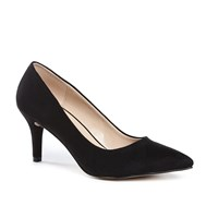 Paradox London Pink Elisa Mid Heel Court Shoes Black