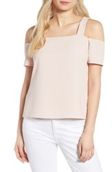 Cooper And Ella Women's Ava Cold Shoulder Top Pale Pink