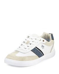 Penguin Frost Striped Low Top Sneaker White