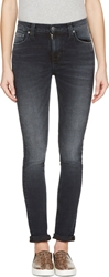 Nudie Jeans Navy Faded High Kai Jeans