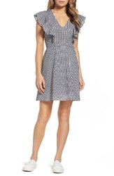 Charles Henry Women's Fit And Flare Dress Black White Gingham