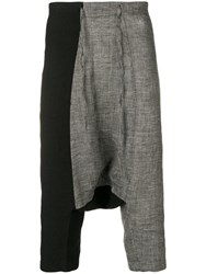 Forme D'expression Contrast Cropped Trousers Black