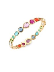 Ippolita 18K Rock Candy Semi Precious Multi Stone Bangle Gold Multi
