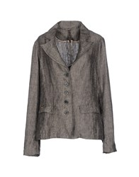 Manila Grace Suits And Jackets Blazers Women Steel Grey