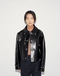 Acne Studios Chrismo Leather Jacket Black