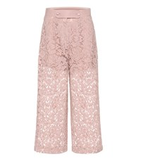 Valentino Lace Wool And Silk Culottes Pink