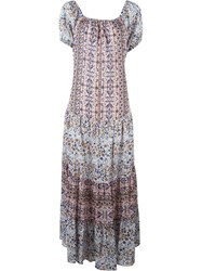 See By Chloe See By Chloe Boho Floral Print Maxi Dress Pink And Purple