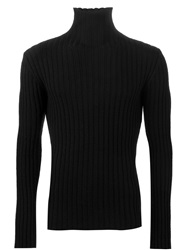 Ann Demeulemeester Grise Roll Neck Ribbed Sweater Black