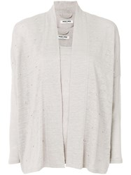 Max And Moi Beaded Cardigan Nude And Neutrals