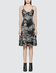 Ashley Williams Slip Sperm Print Silk Dress Black