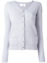 Allude Button Up Cardigan Grey