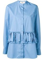 Ports 1961 Strappy Design Shirt Blue