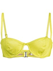 Fleur Du Mal Unlined Balconette Top Yellow