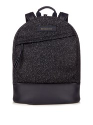 Want Les Essentiels Kastrup Flecked Tweed Backpack Navy Multi