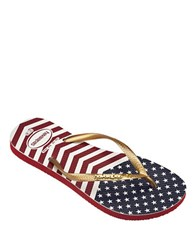 Havaianas Chevron Stars And Striped Flip Flops