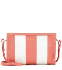 Balenciaga Bazar Leather Clutch Pink